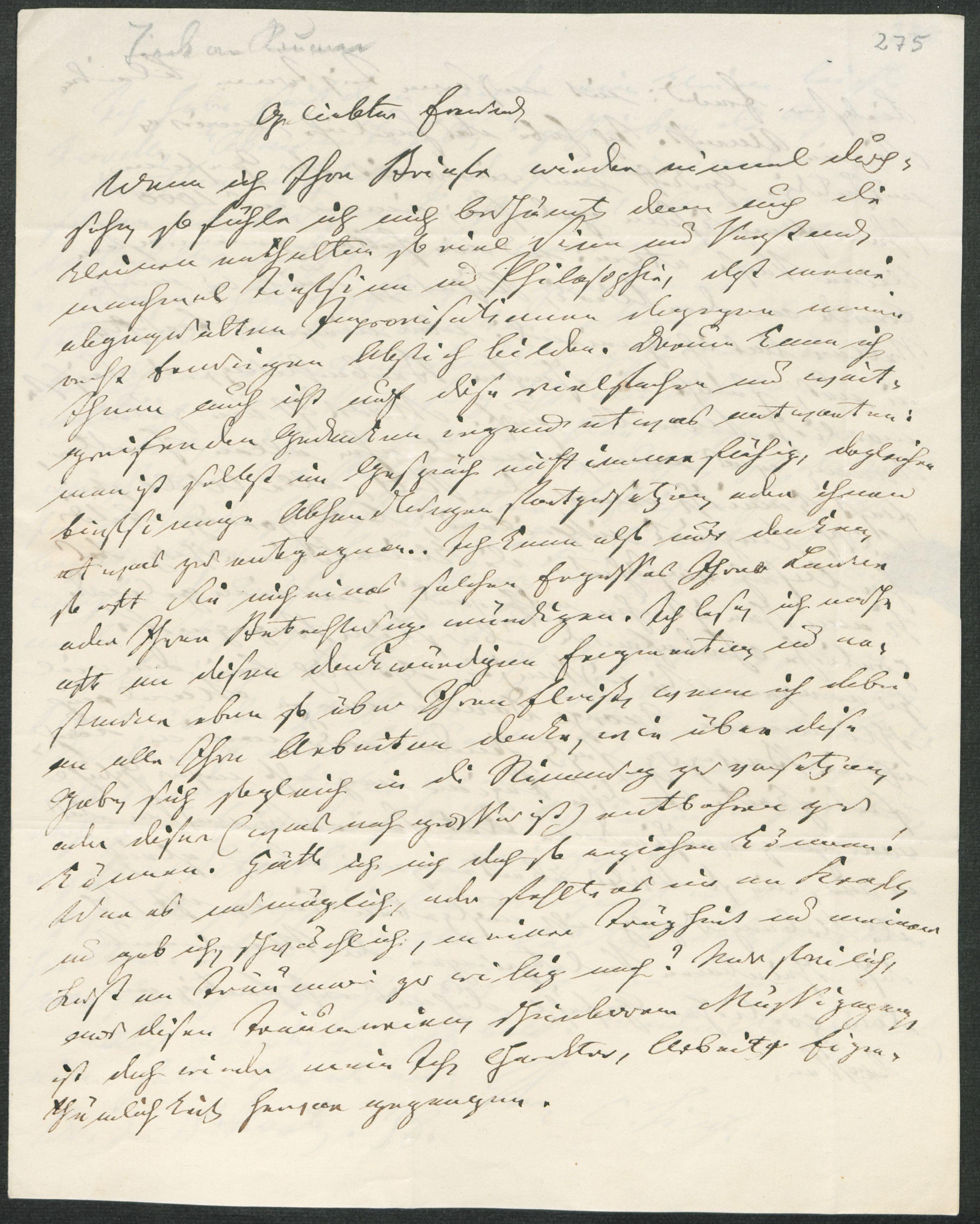 Brief von Ludwig Tieck an Friedrich von Raumer (Dresden, 15 ...