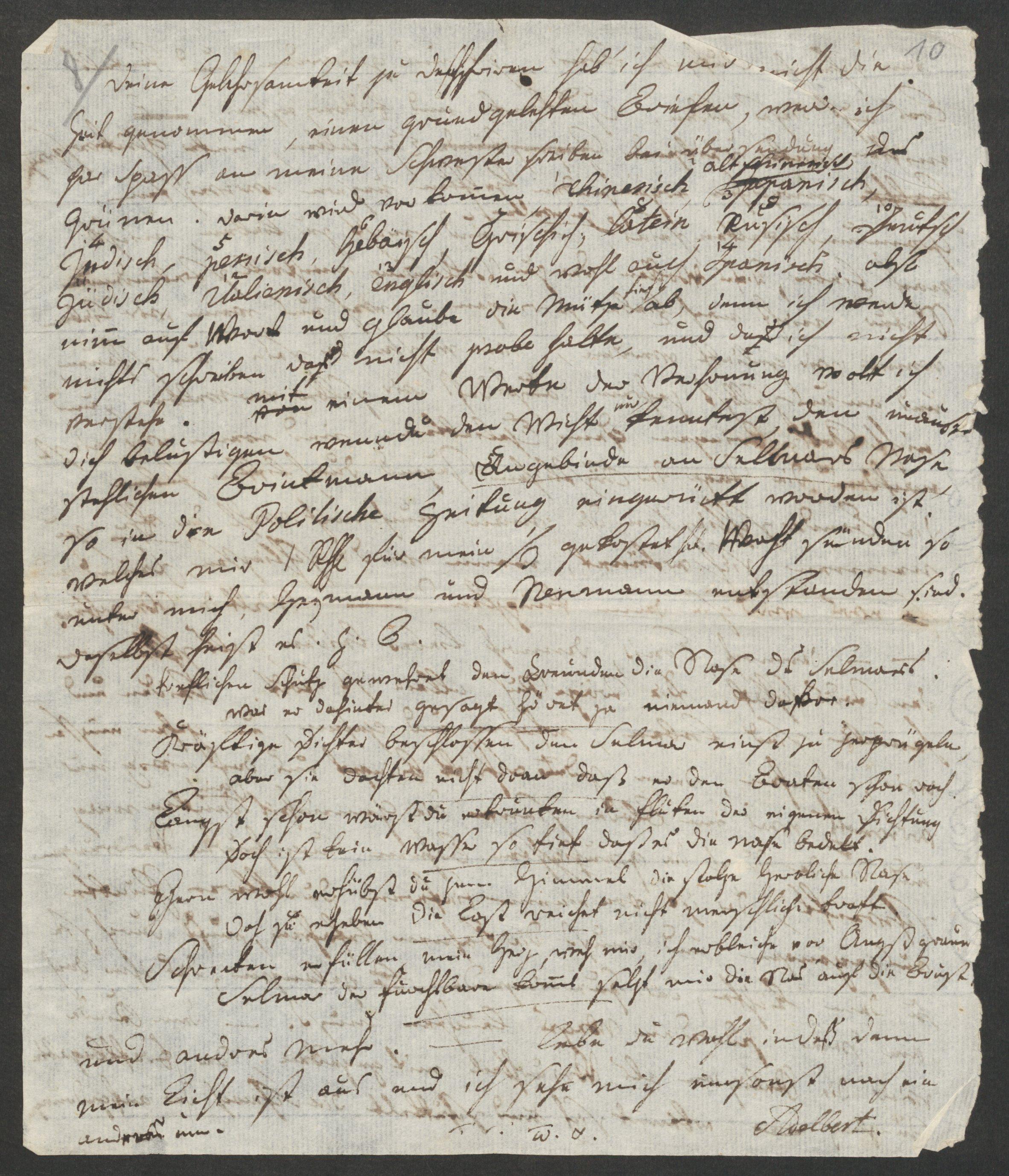 Brief Von Adelbert Von Chamisso An Louis De La Foye Ohne Ort Ende